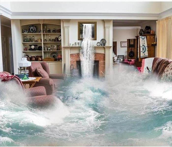 a home flooding with water